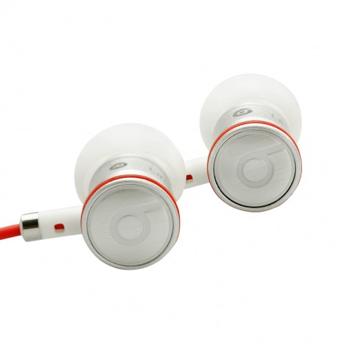 Handsfree earphones In Ear Beats Audio® Urbeats By Dre White/Silver/Red