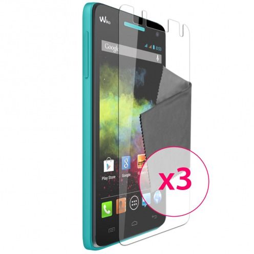 Clubcase ® Ultra Clear HD screen protector for Wiko Rainbow 3-Pack