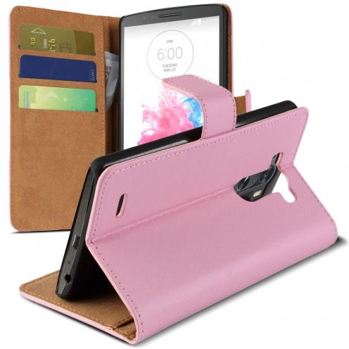 Eco Leather Folio Wallet Case for LG G3 - Pink