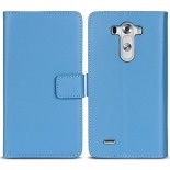 Eco Leather Folio Wallet Case for LG G3 - Blue