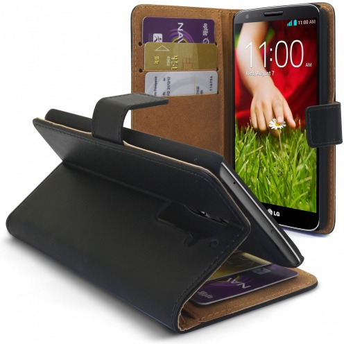 Smart Cover LG G2 Black Leather Crust