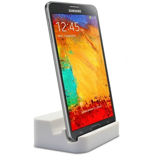 Docking Station USB 3.0 with Audio for Galaxy S5 / Note 3 - Glossy White
