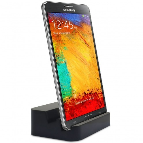 Docking Station USB 3.0 with Audio for Galaxy S5 / Note 3 - Glossy Black