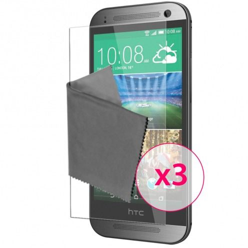 Clubcase ® Ultra Clear HD screen protector for HTC One Mini 2 3-Pack