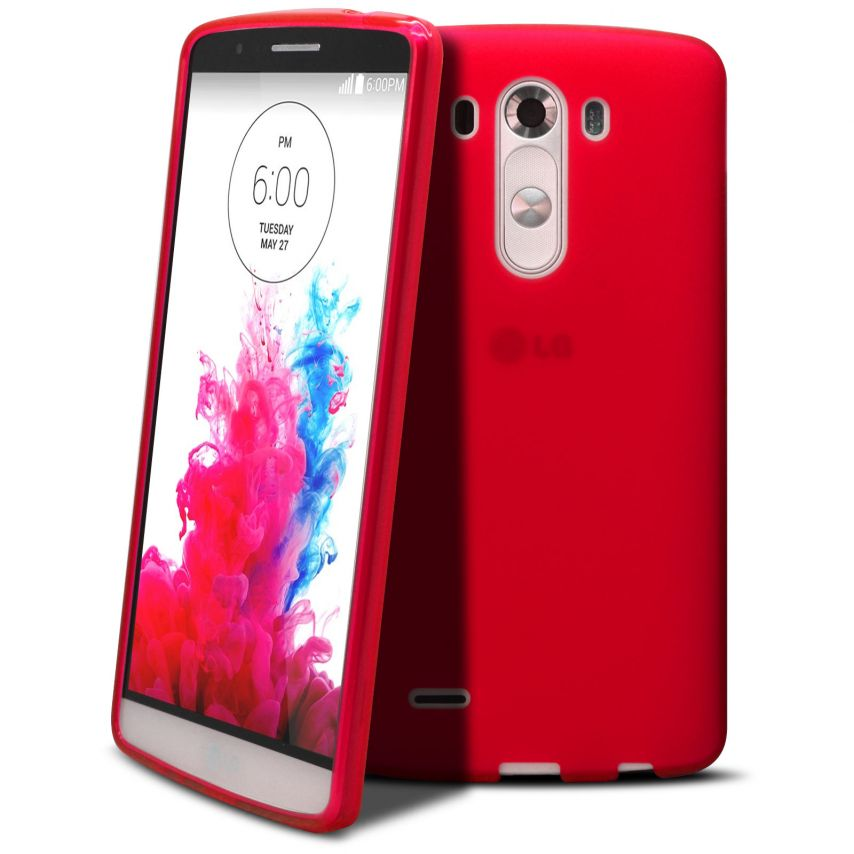 Frozen Ice Extra Slim soft Red case for LG G3