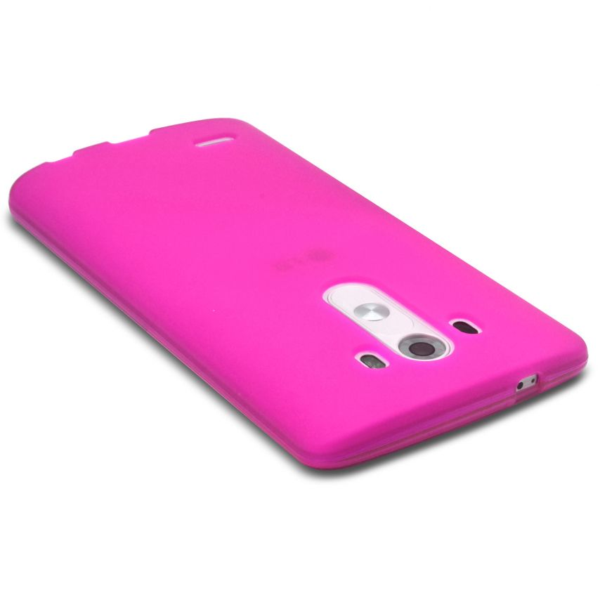Frozen Ice Extra Slim soft Pink case for LG G3
