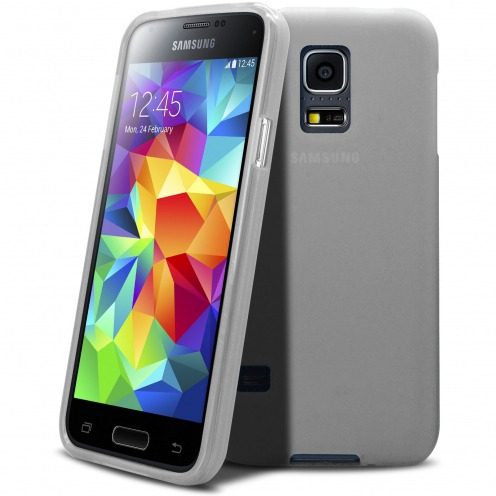 Frozen Ice Extra Slim soft White case for Samsung Galaxy S5 mini