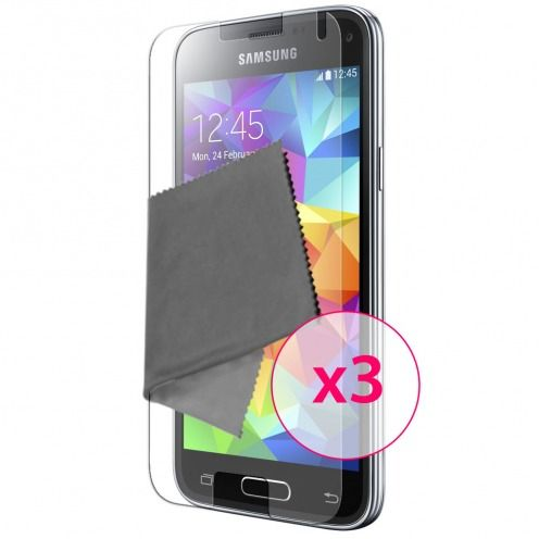 Clubcase ® Ultra Clear HQ screen protector for Galaxy S5 Mini 3-Pack