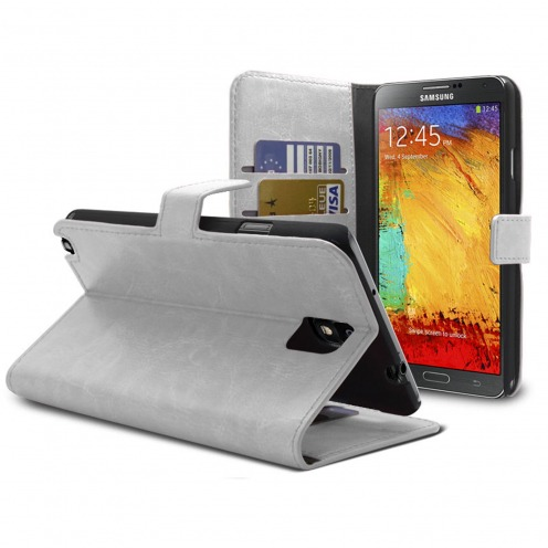 Smart Cover Samsung Galaxy Note 3 White marbled Leatherette