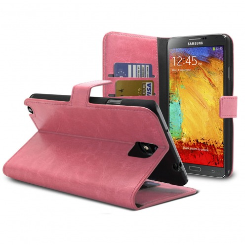 Smart Cover Samsung Galaxy Note 3 Pink marbled Leatherette