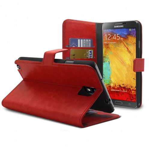 Smart Cover Samsung Galaxy Note 3 Red marbled Leatherette