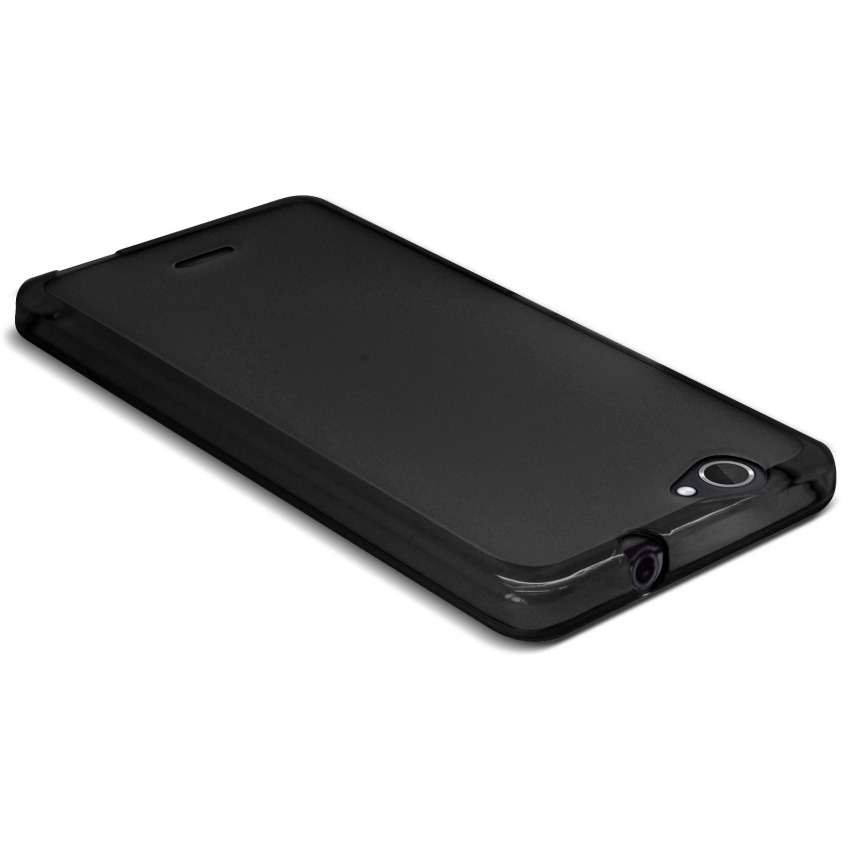 Frozen Ice Extra Slim soft Black opaque case for Wiko Getaway
