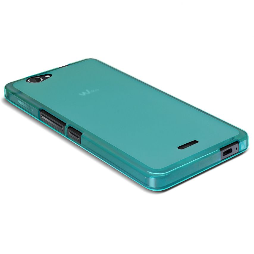 Frozen Ice Extra Slim soft Blue case for Wiko Getaway