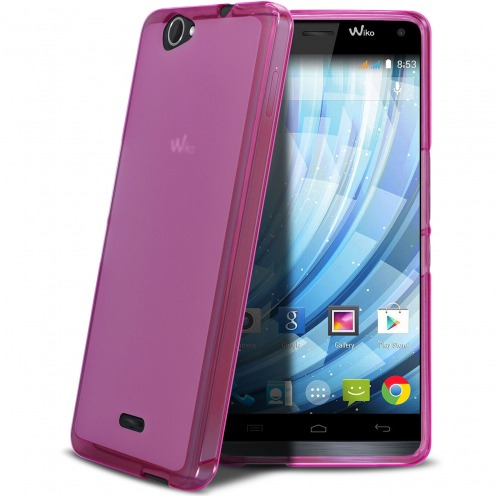 Frozen Ice Extra Slim soft Pink case for Wiko Getaway