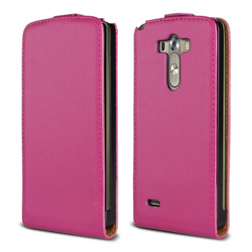 leather flip case Fuchsia LG G3