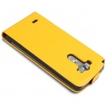 leather flip case Yellow LG G3