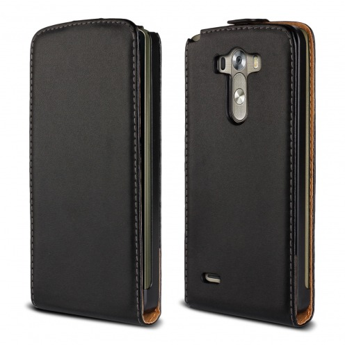 leather flip case Black LG G3