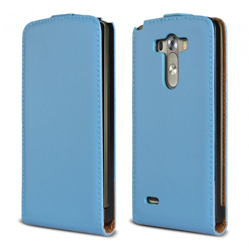 leather flip case Blue LG G3