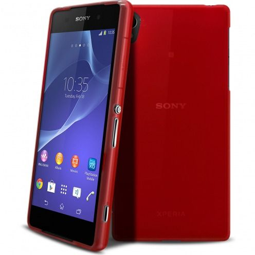 Frozen Ice Extra Slim soft Red case for Sony Xperia Z2