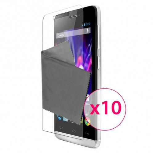 Clubcase ® Ultra Clear HD screen protector for Wiko Wax 10-Pack