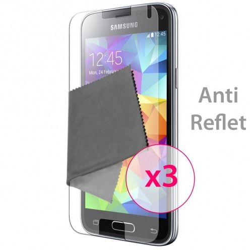 Clubcase ® Anti-Glare HQ screen protector for Galaxy S5 Mini 3-Pack