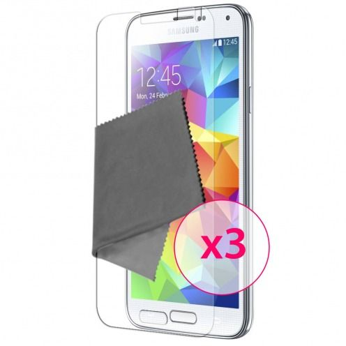 Pack of 3 Anti-Fingerprints Screen protector for Galaxy S5 Clubcase ®