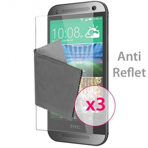 Clubcase ® Anti-Glare HQ screen protector for HTC One mini2 3-Pack