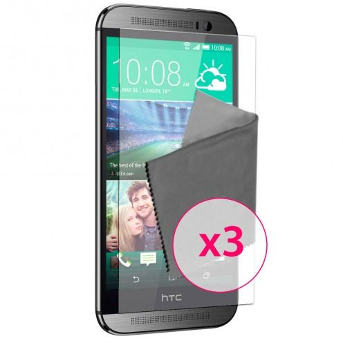 Clubcase ® Anti-Glare HQ screen protector for HTC One M8 3-Pack