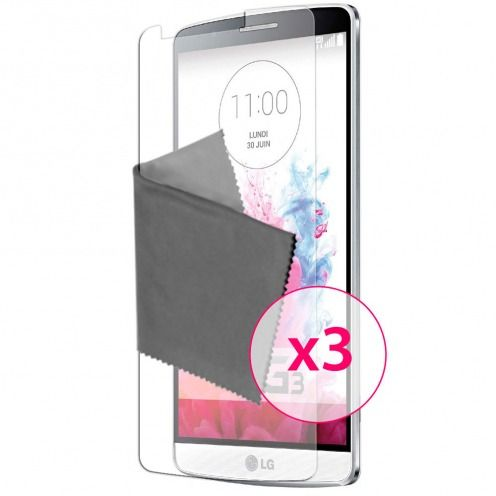 Clubcase ® Anti-Glare HQ screen protector for LG G3 3-Pack