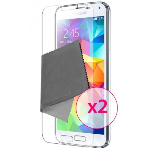 Clubcase ® Anti-Glare HQ screen protector for Galaxy S5 2-Pack