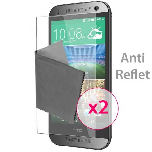 Clubcase ® Anti-Glare HQ screen protector for HTC One mini2 2-Pack