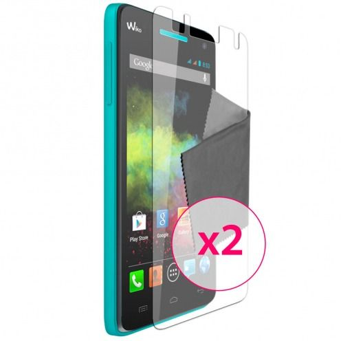 Clubcase ® Anti-Glare HQ screen protector for Wiko Rainbow 2-Pack