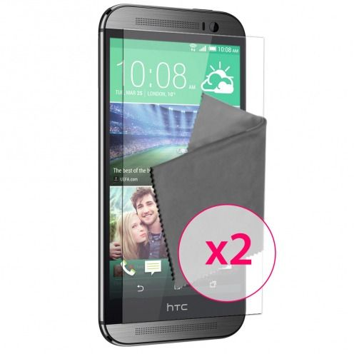 Pack of 2 Anti-Fingerprints Screen protector for HTC One M8 Clubcase ®