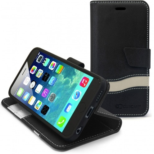 On-Stage Slim Folio Eco leather Case For iPhone 6 Black / White
