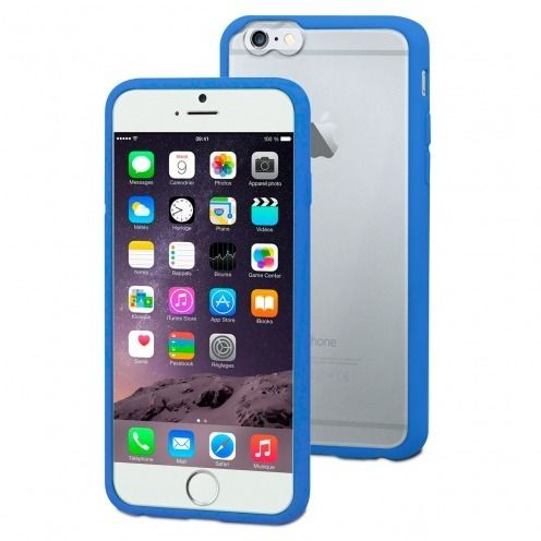 Muvit ® iPhone 6 Plus MyFrame Case Bi-Material Blue - Transparent