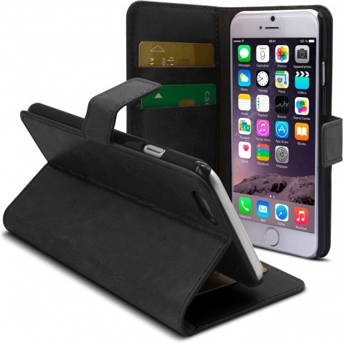 Smart Cover iPhone 6 Plus Black marbled Leatherette