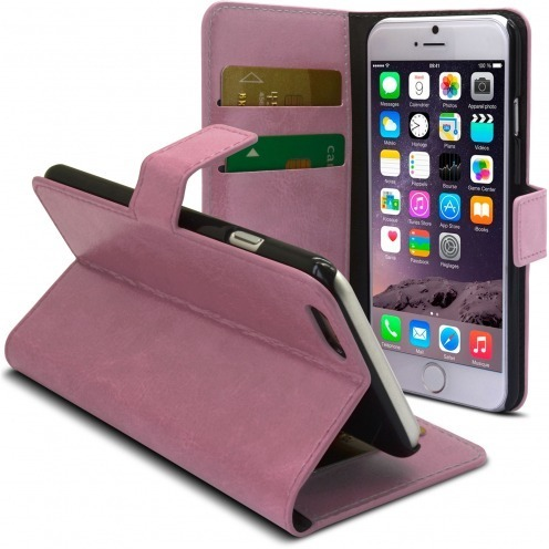 Smart Cover iPhone 6 Plus Pink marbled Leatherette