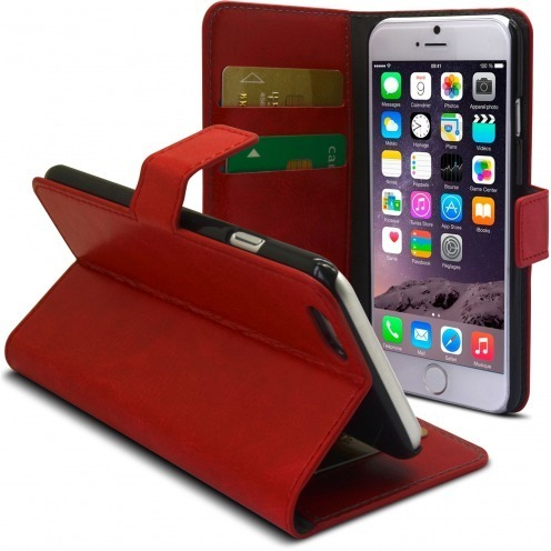 Smart Cover iPhone 6 Plus Red marbled Leatherette