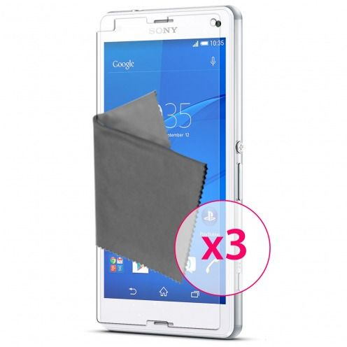 Clubcase ® Ultra Clear HQ screen protector for Sony XPERIA Z3 Compact 3-Pack