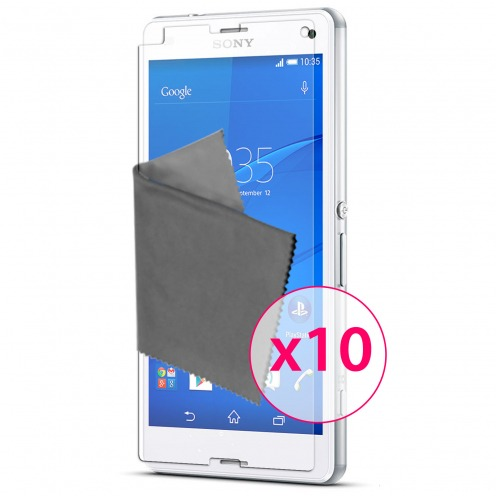 Clubcase ® Ultra Clear HQ screen protector for Sony XPERIA Z3 Compact 10-Pack