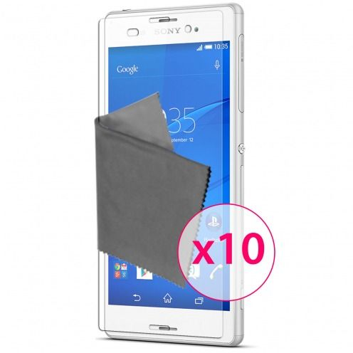 Clubcase ® Ultra Clear HQ screen protector for Sony XPERIA Z3 10-Pack
