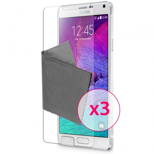 Clubcase ® Ultra Clear HQ screen protector for Galaxy Note 4 3-Pack