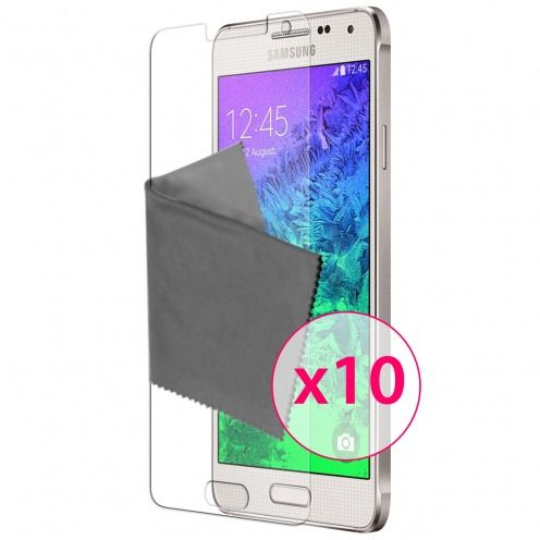 Clubcase ® Ultra Clear HQ screen protector for Galaxy Alpha 10-Pack