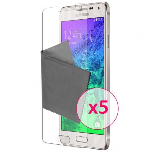 Clubcase ® Ultra Clear HQ screen protector for Galaxy Alpha 5-Pack