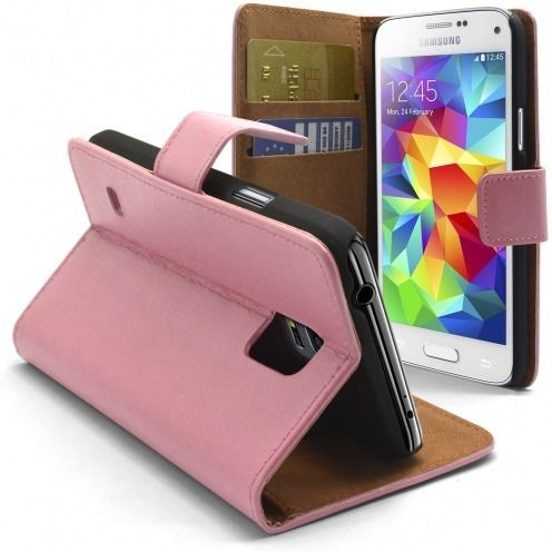 Eco Leather Folio Wallet Case for Galaxy S5 Mini - Pink