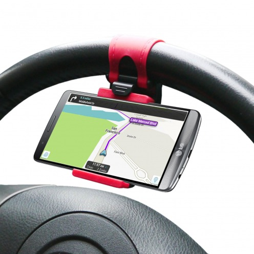 Steerhold Mini Steering wheel Car Holder for iPhone 6 - iPhone - Universal