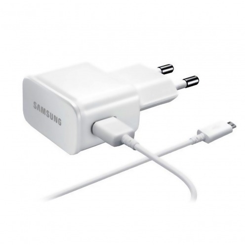 Original Samsung EU AC wall charger to USB 1A ETA0U81EWE with micro USB cable