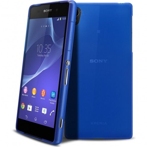 Frozen Ice Extra Slim soft Ultramarine blue case for Sony Xperia Z2