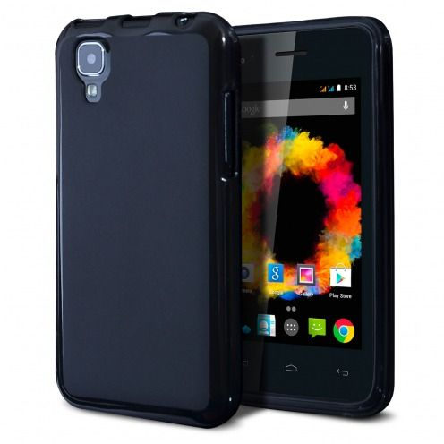 Frozen Ice Extra Slim soft Black opaque case for Wiko Sunset