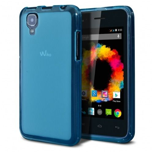 Frozen Ice Extra Slim soft Blue case for Wiko Sunset